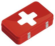 First-aid set. First aid kit color. This is file of EPS10 format Stock Image