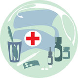 First-aid set Stock Photos