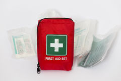 First aid set Stock Photos