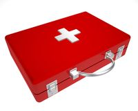 The first-aid set on a white background. The first-aid set of the doctor on a white background Stock Image
