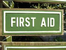 First Aid sign Stock Images