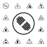 First aid sign icon. Detailed set of Warning signs icons. Premium quality graphic design sign. One of the collection icons for web. Sites, web design, mobile app Stock Image