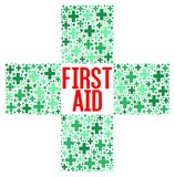 First aid sign illustration. Concept Stock Image
