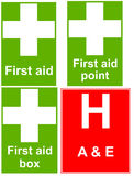 First aid signs Stock Images