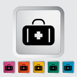 First aid. Single flat icon on the button. Vector illustration Royalty Free Stock Images
