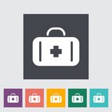 First aid. Single flat icon on the button. Vector illustration Royalty Free Stock Photos