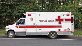 First Aid Squad. Is a public service organization that uses specialized equipment and knowledge to rescue people that having medical emergencies Royalty Free Stock Photos