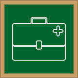 First aid suitcase. Icon  illustration graphic design Stock Photo