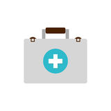 First aid suitcase. Icon  illustration graphic design Stock Images