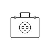First aid suitcase. Icon  illustration graphic design Royalty Free Stock Image