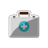 First aid suitcase. Icon  illustration graphic design Stock Image