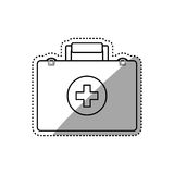 First aid suitcase. Icon  illustration graphic design Royalty Free Stock Photography