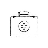 First aid suitcase. Icon  illustration graphic design Stock Photography