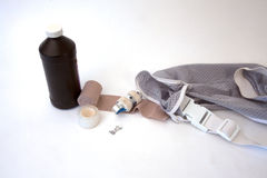 First Aid Supplies. Isolated on a background royalty free stock photography