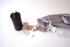 First Aid Supplies. Isolated on a white background stock photo