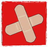 First aid symbol. First aid cross with bandaids - vector illustration Royalty Free Stock Images