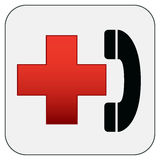 First aid symbol. First aid emergency phone symbol Royalty Free Stock Photo