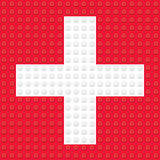 First Aid Symbol created from building toy bricks Royalty Free Stock Images