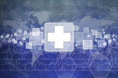 First Aid Symbol. Medical background Royalty Free Stock Image
