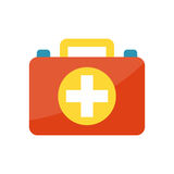 First aid symbol vector illustration. First aid kit isolated on white background. Medical symbols emergency sign cross first sterile bandages. Assistance Royalty Free Stock Photography
