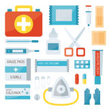 First aid symbols vector illustration. Stock Photos