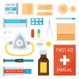 First aid symbols vector illustration. Stock Photo