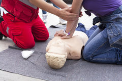 First aid training Royalty Free Stock Images