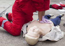 First aid training - CPR Royalty Free Stock Photos