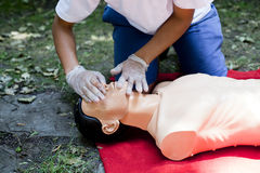 First aid training detail Royalty Free Stock Images