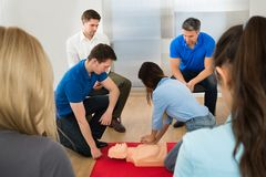 First aid training Stock Photos