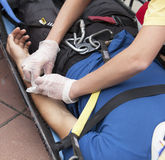 First aid. Training. Medical exam Stock Image