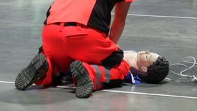 First aid training stock footage