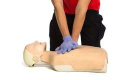 First aid training, resuscitation training Stock Photos