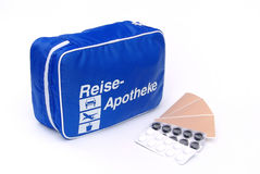 First aid travel kit 03 Royalty Free Stock Photo