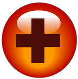 First aid web button Stock Photos