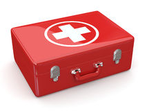 First aids. Medical Kit. 3d. First aids. Medical Kit on white isolated background. 3d Royalty Free Stock Photography