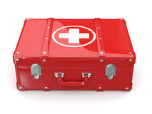 First aids. Medical Kit. 3d. First aids. Medical Kit on white background. 3d Stock Images