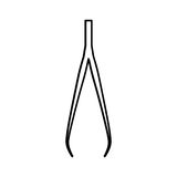 First aids pliers icon Royalty Free Stock Image