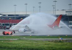 First Air India Boeing 787 Royalty Free Stock Photos