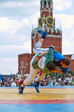 First All-Russian tournament on Russian traditional struggle Stock Photography