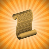 The first amendment. On orange background (with readable text Stock Photography