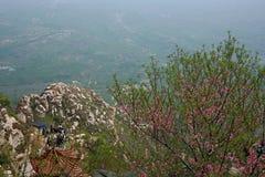 Xinzheng first ancestor mountain. The first ancestor mountain, formerly known as the mount Zi, is the remaining vein of Songshan, located in Henan, Yuzhou Stock Photo