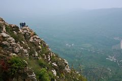 Xinzheng first ancestor mountain. The first ancestor mountain, formerly known as the mount Zi, is the remaining vein of Songshan, located in Henan, Yuzhou Stock Image