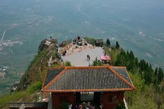 Xinzheng first ancestor mountain. The first ancestor mountain, formerly known as the mount Zi, is the remaining vein of Songshan, located in Henan, Yuzhou Royalty Free Stock Image