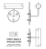 First Angle Orthographic Projection Stock Photography
