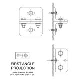First Angle Orthographic Projection Stock Photos