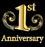 First anniversary happy birthday Royalty Free Stock Images
