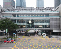 The first Apple Store in Hong Kong Stock Photo