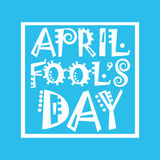 First April Fool Day Happy Holiday Greeting Card. Flat Vector Illustration Royalty Free Stock Photography