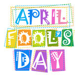First April Fool Day Happy Holiday Greeting Card. Flat Vector Illustration Royalty Free Stock Images